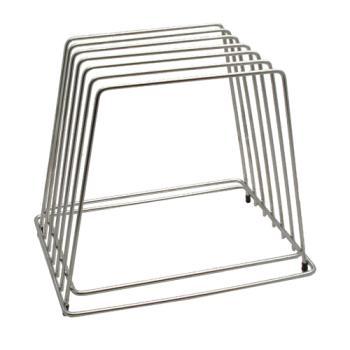 86107 - Tablecraft - CBR6 - Stainless Steel Cutting Board Rack Product Image