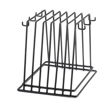 95375 - Tablecraft - CBR6BK - 6-Slot Vinyl Coated Cutting Board Rack Product Image