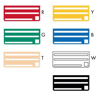 EDLKR50I - Edlund - KR-50I - Color-Coded Knife Rack Inserts Product Image