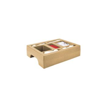 CAMLCDCH10157 - Cambro - LCDCH10 - Camtainer 20 in X 16 in Beige Condiment Holder Product Image