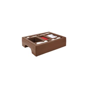 CAMLCDCH10131 - Cambro - LCDCH10 - Camtainer 20 in X 16 in Brown Condiment Holder Product Image
