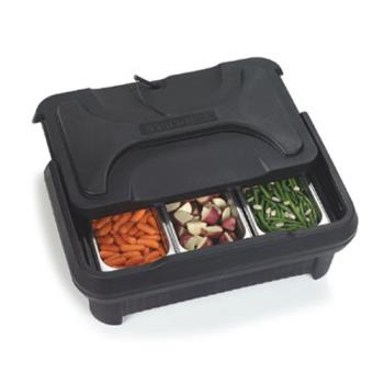 CFSXT180003 - Carlisle - XT180003 - Cateraide™ Full Size 8 in Deep Black Pan Carrier Product Image