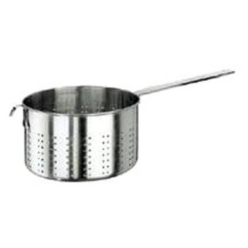 WOR1192424 - World Cuisine - 11924-24 - 6 7/8 Qt Stainless Pasta Strainer Product Image