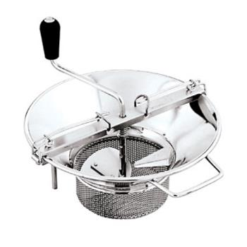 "WOR4257437 - World Cuisine - 42574-37 - #5 Stainless Food Mill w/1/8"" Sieve Product Image"