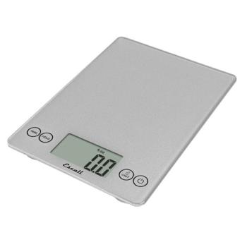 51172 - Escali - SCDG15SVR - 15 lb Silver Glass Digital Portion Scale Product Image
