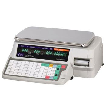 GLOGSP30A - Globe - GSP30A - 30 lb x .01 lb Label Printing Scale Product Image