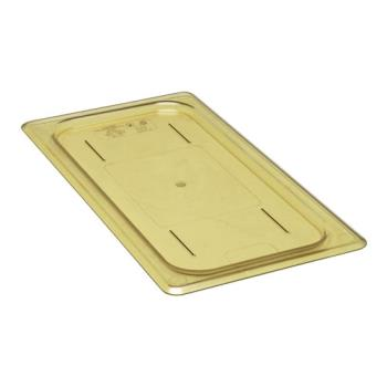 281589 - Cambro - 30HPC150 - 1/3 Size Amber H-Pan™ Flat Cover Product Image