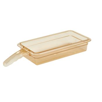 CAM32HP1H150 - Cambro - 32HP1H150 - 1/3 Size 2 1/2 in Amber H-Pan™ Single-Handled High Heat Food Pan Product Image