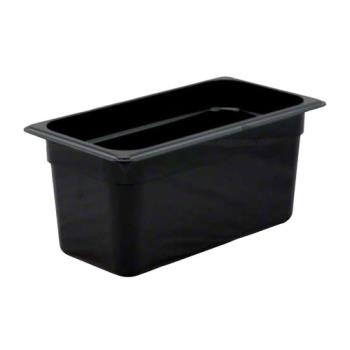 78423 - Cambro - 36HP110 - 1/3 Size 6 in Deep Black H-Pan™ Food Pan Product Image