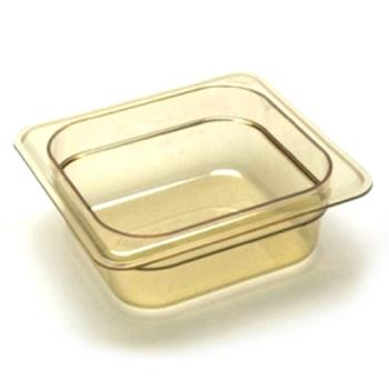 281602 - Cambro - 42HP - 1/4 Size H-Pan™ Amber Food Pan Product Image