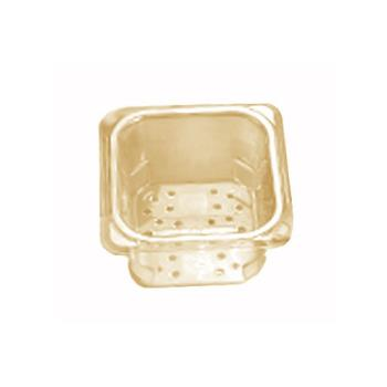 CAM63CLRHP150 - Cambro - 63CLRHP150 - 1/6 Size 3 in Amber H-Pan™ High Heat Food Pan Colander Product Image