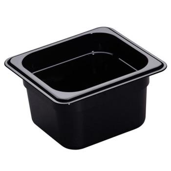 78433 - Cambro - 64HP110 - 1/6 Size 4 in Deep Black H-Pan™ Food Pan Product Image
