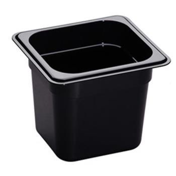78437 - Cambro - 66HP110 - 1/6 Size 6 in Deep Black H-Pan™ Food Pan Product Image