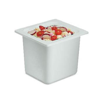 SANCI7001WH - San Jamar - CI7001WH - Chil-It™ Sixth Size 6 in Deep White Food Pan Product Image