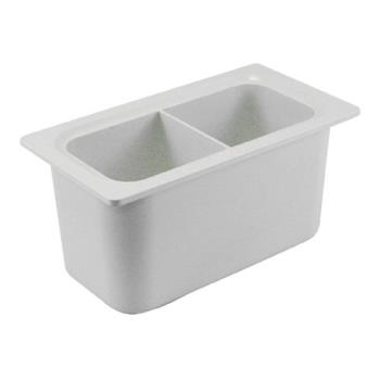 78754 - San Jamar - CI7002WH - Third Size 6 in Deep White Chil-It™ Food Pan Product Image