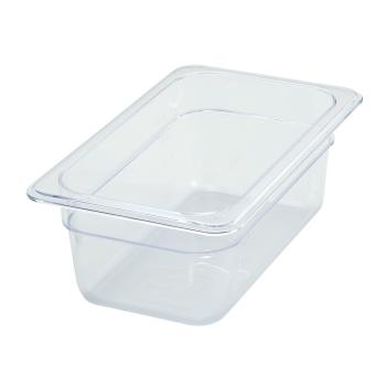 WINSP7404 - Winco - SP7404 - Poly-Ware Quarter Size 4 in Deep Food Pan Product Image