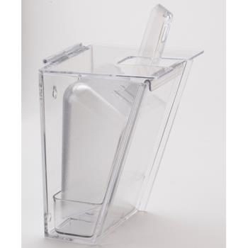 CLM356 - Cal-Mil - 356 - Wall Mount Clear Polycarb Scoop Holder w/32 oz Scoop Product Image