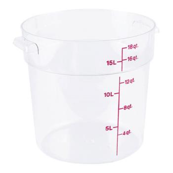 78595 - Cambro - RFSCW18 - Camwear 18 qt Food Storage Container Product Image