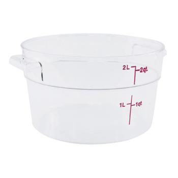 78590 - Cambro - RFSCW2 - Camwear 2 qt Food Storage Container Product Image