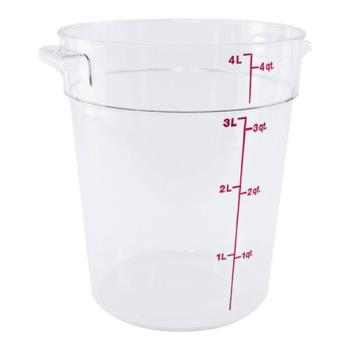 78591 - Cambro - RFSCW4 - Camwear 4 qt Food Storage Container Product Image