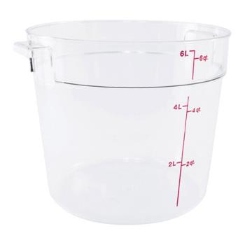 78592 - Cambro - RFSCW6 - Camwear 6 qt Food Storage Container Product Image