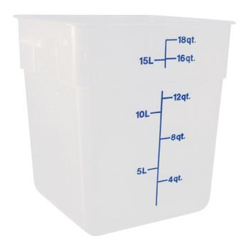 78805 - Cambro - 18SFSPP - CamSquare 18 qt Food Storage Container Product Image