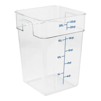 78521 - Cambro - 22SFSCW135 - 22 qt CamSquare® Food Storage Container Product Image