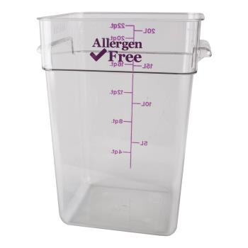 89217 - Cambro - 22SFSCW441 - 22 qt Purple Allergen Free CamSquare® Container Product Image