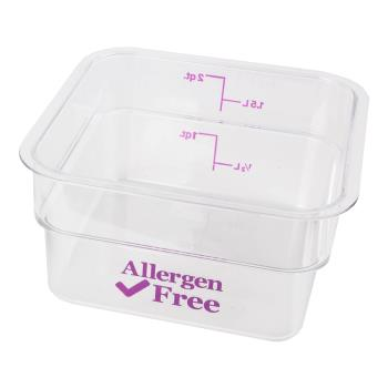 89216 - Cambro - 2SFSCW441 - 2 qt Purple Allergen Free CamSquare® Container Product Image