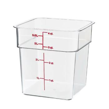 78503 - Cambro - 4SFSCW135 - 4 qt CamSquare® Food Storage Container Product Image