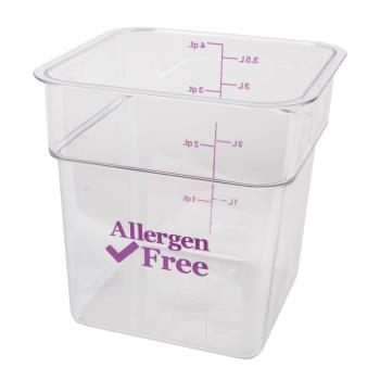 89214 - Cambro - 4SFSCW441 - 4 qt Purple Allergen Free CamSquare® Container Product Image