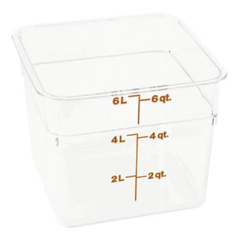 78505 - Cambro - 6SFSCW135 - 6 qt CamSquare® Food Storage Container Product Image