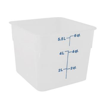78802 - Cambro - 6SFSPP190 - 6 qt CamSquare® Food Storage Container Product Image
