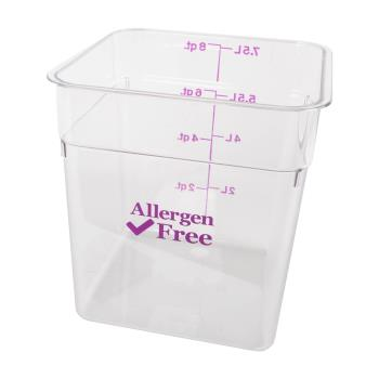 89215 - Cambro - 8SFSCW441 - 8 qt Purple Allergen Free CamSquare® Container Product Image