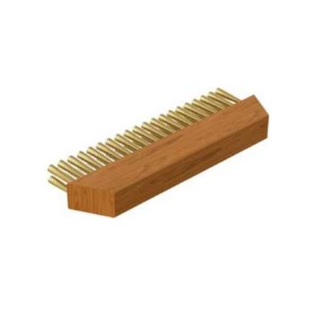 32221 - Wood Stone Corp - 3000-0002 - 10 in T-Style Brass Bristle Replacement Brush Head Product Image