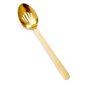 AMMGVHSS - American Metalcraft - GVHSS - 13 1/4 in Hammered Vintage Gold Slotted Spoon Product Image