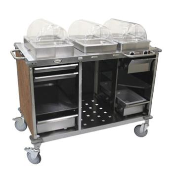 CDOCBCHCL1 - Cadco - CBC-HC-L1 - Mobile Hot/Cold Buffet Cart w/Red Laminate Skirt Product Image