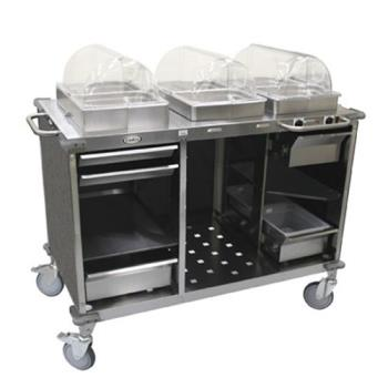 CDOCBCHCL3 - Cadco - CBC-HC-L3 - Mobile Hot And Cold Buffet Cart With Gray Laminate Skirt Product Image