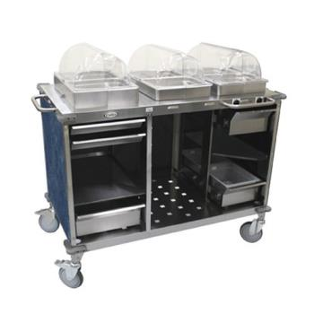 CDOCBCHCL4 - Cadco - CBC-HC-L4 - Mobile Hot And Cold Buffet Cart With Blue Laminate Skirt Product Image