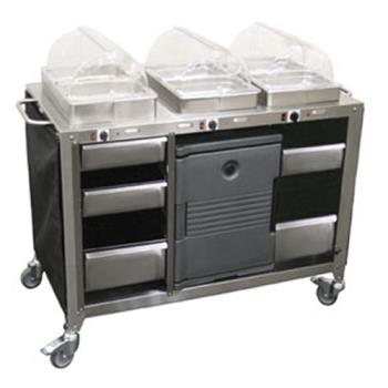CDOCBCHHH - Cadco - CBC-HHH - Mobile Hot Buffet Cart Product Image