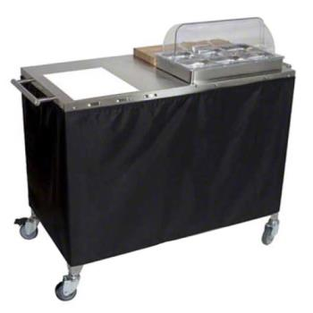 CDOCBCPHR3 - Cadco - CBC-PHR-3 - Mobile Chef Cart with Glass Ceramic Range Product Image
