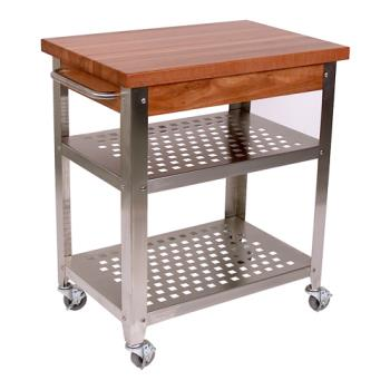 "JHBCHYCUCR3020 - John Boos - CHY-CUCR3020 - Cucina Americana® 30"" x 20"" Cherry Stain Rosato Cart Product Image"