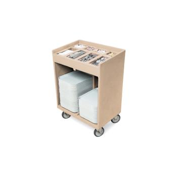 CAMTC1418157 - Cambro - TC1418 - 32 in X 21 in Beige Tray and Silver Cart Product Image