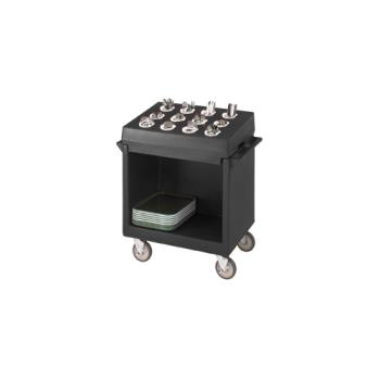 CAMTDCR12110 - Cambro - TDCR12 - 38 in X 23 in Black Tray and Dish Cart  Product Image
