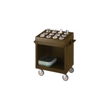 CAMTDCR12131 - Cambro - TDCR12131 - 38 in X 23 in Brown Tray and Dish Cart Product Image