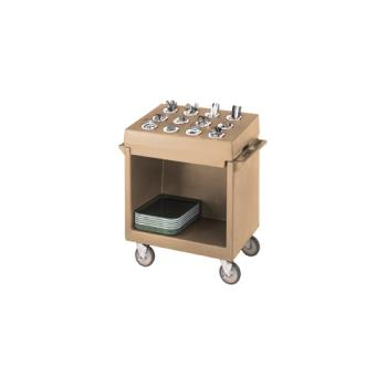 CAMTDCR12157 - Cambro - TDCR12157 - 38 in X 23 in Beige Tray and Dish Cart Product Image