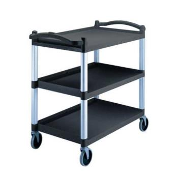 CAMBC340KD110 - Cambro - BC340KD110 - 40 in x 21 1/4 in 3-Tier Black Utility Cart Product Image
