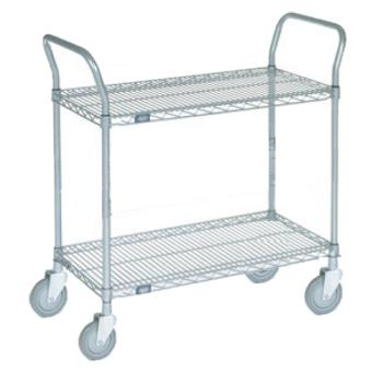 86342 - Commercial - 24 in x 48 in Chrome Wire Cart Product Image