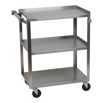 FCP90312 - Focus Foodservice - 90312 - 15 1/2 in x 24 in Stainless Steel Utility Cart Product Image
