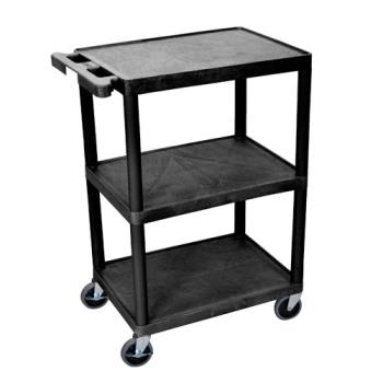 LUXHE34B - Luxor - HE-34-B - 24 in x 18 in Black Utility Cart Product Image